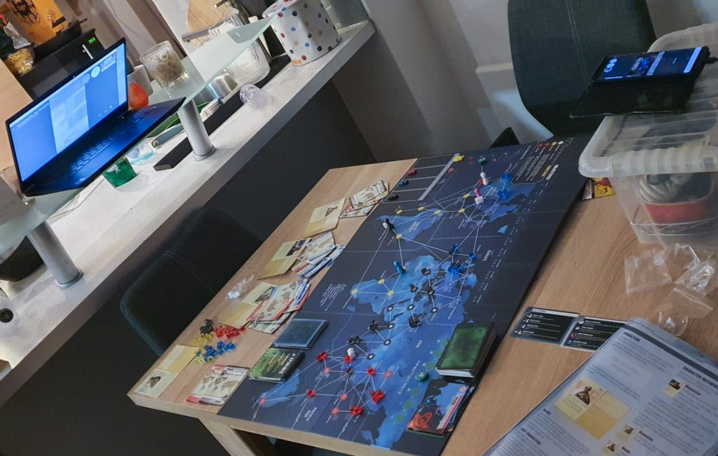Playing Pandemic Legacy remotely  - March 2020 Monthly Recap by BeckyBecky Blogs