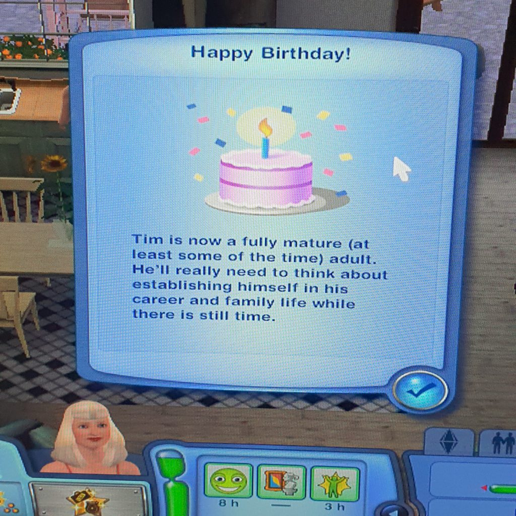 Tim's birthday on the Sims 3 - March 2020 Monthly Recap by BeckyBecky Blogs