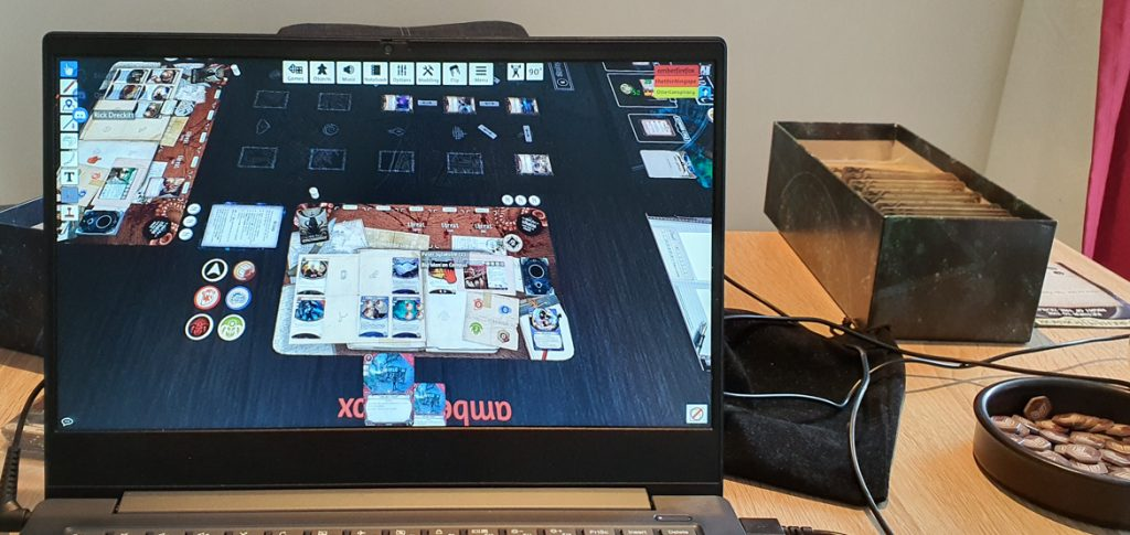 Playing Arkham Horror Living Card Game on Tabletop Simulator - March 2020 Monthly Recap by BeckyBecky Blogs