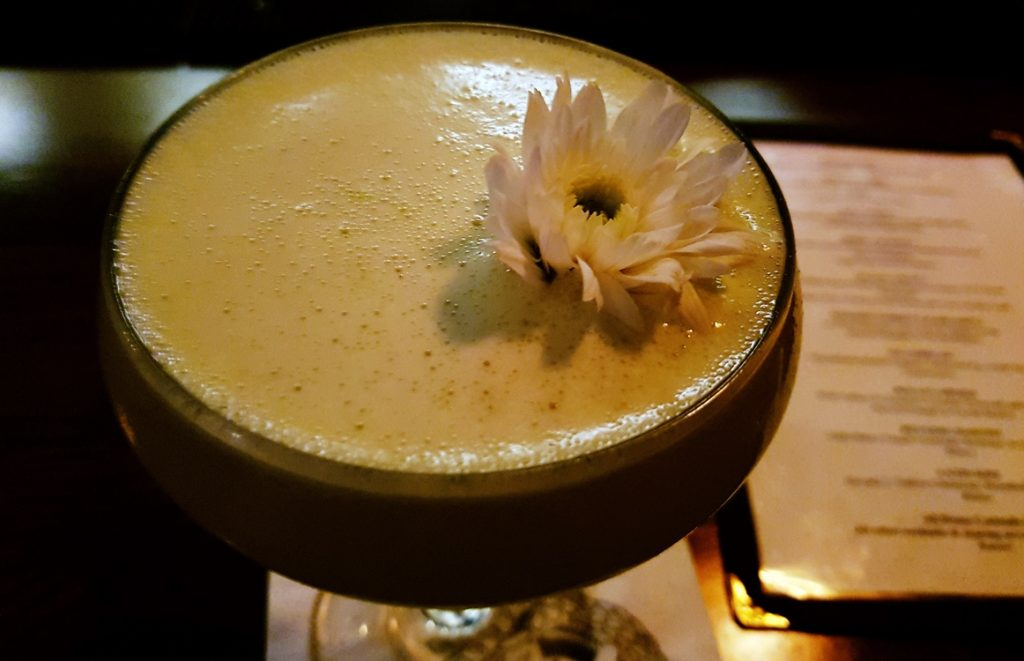 South Pacific cocktail at Maven prohibition bar in Leeds