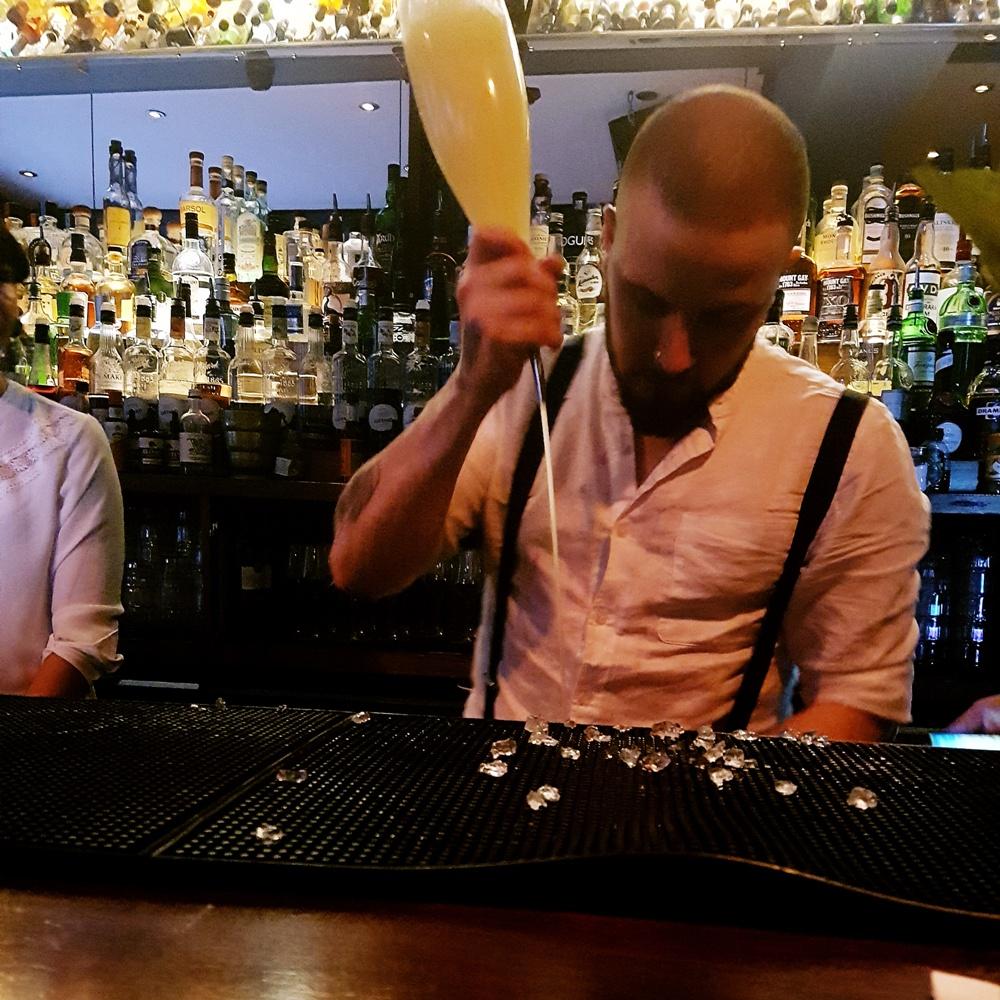 Bartending at Maven prohibition bar in Leeds