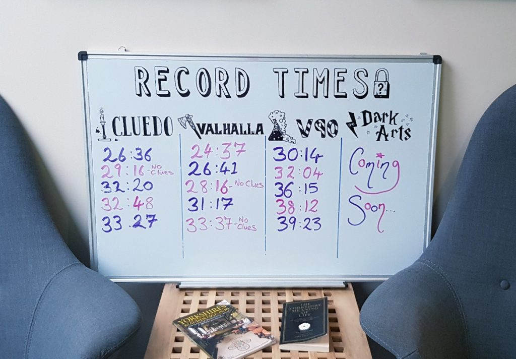 Leaderboard - V90 by Mindlock, York escape room review by BeckyBecky Blogs