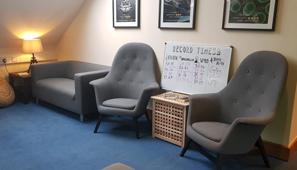 The lobby - V90 by Mindlock, York escape room review by BeckyBecky Blogs