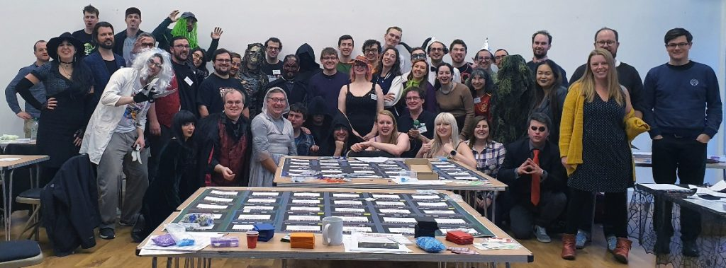 All player photo - Monsterville Mansion megagame report by BeckyBecky Blogs