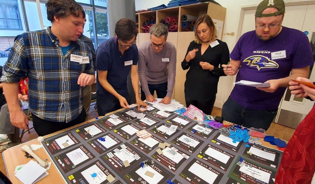 One of the final showdowns - Monsterville Mansion megagame report by BeckyBecky Blogs