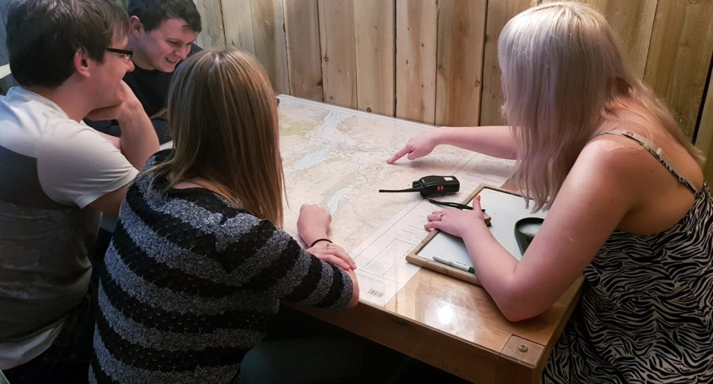 Clues on the map - Mountain Mayhem by Kong Escape Room, Keswick escape room review by BeckyBecky Blogs