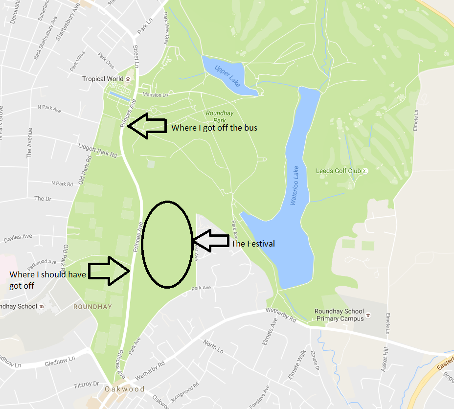 The North Leeds Food Festival within Roundhay Park