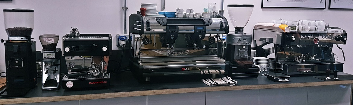 Coffee machines in the Coffee Academy - Review of North Star Coffee Shop by BeckyBecky Blogs