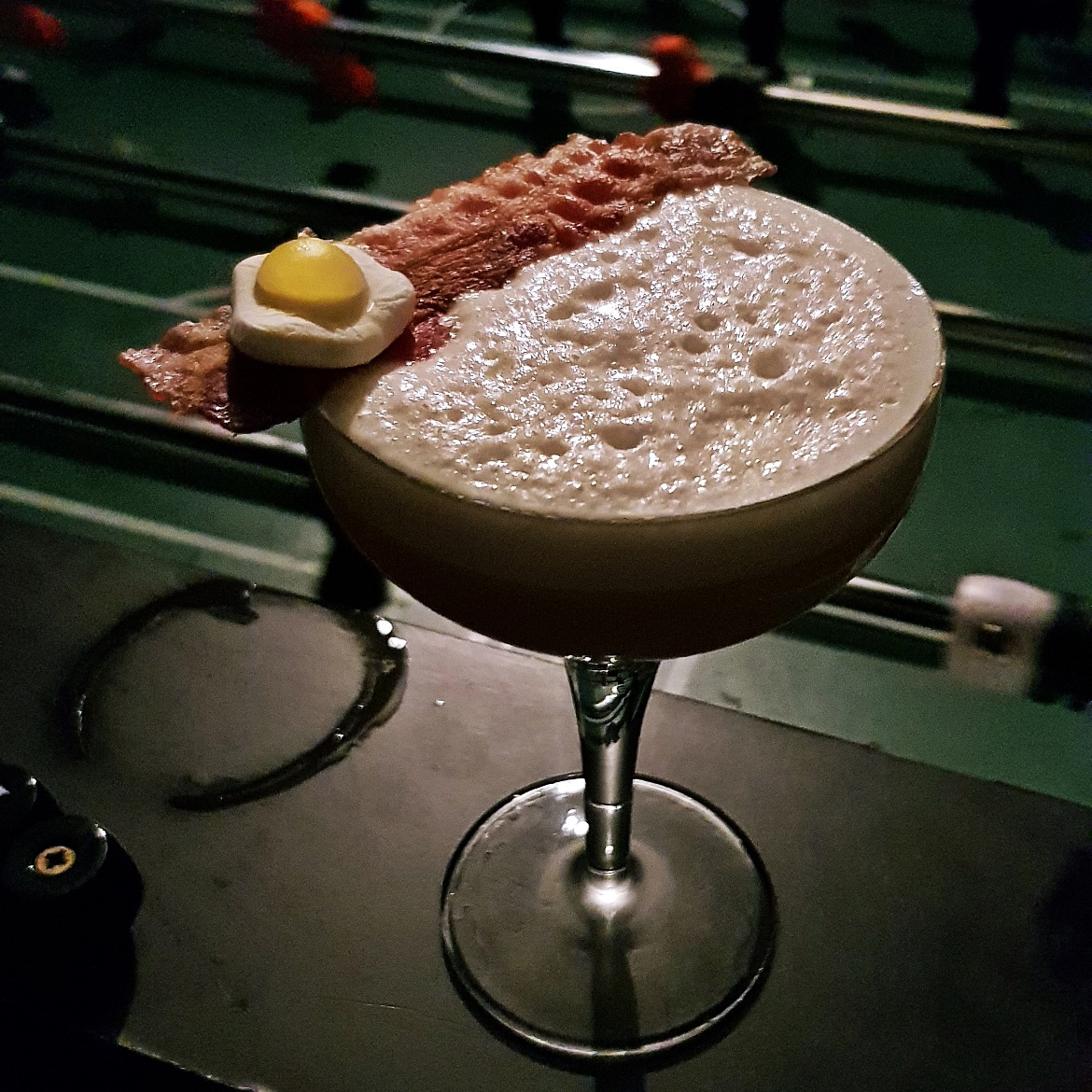 Bacon and Egg cocktail at London Cocktail Club - October Monthly Recap by BeckyBecky Blogs