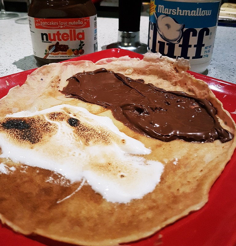 S'mores pancake for my Pancake Day Pancake Recipe by BeckyBecky Blogs