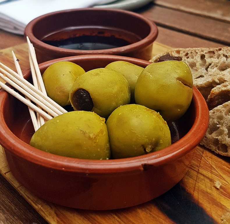 Gordal olives - Gin & Tonic Plus at Pintura, Bar Review by BeckyBecky Blogs