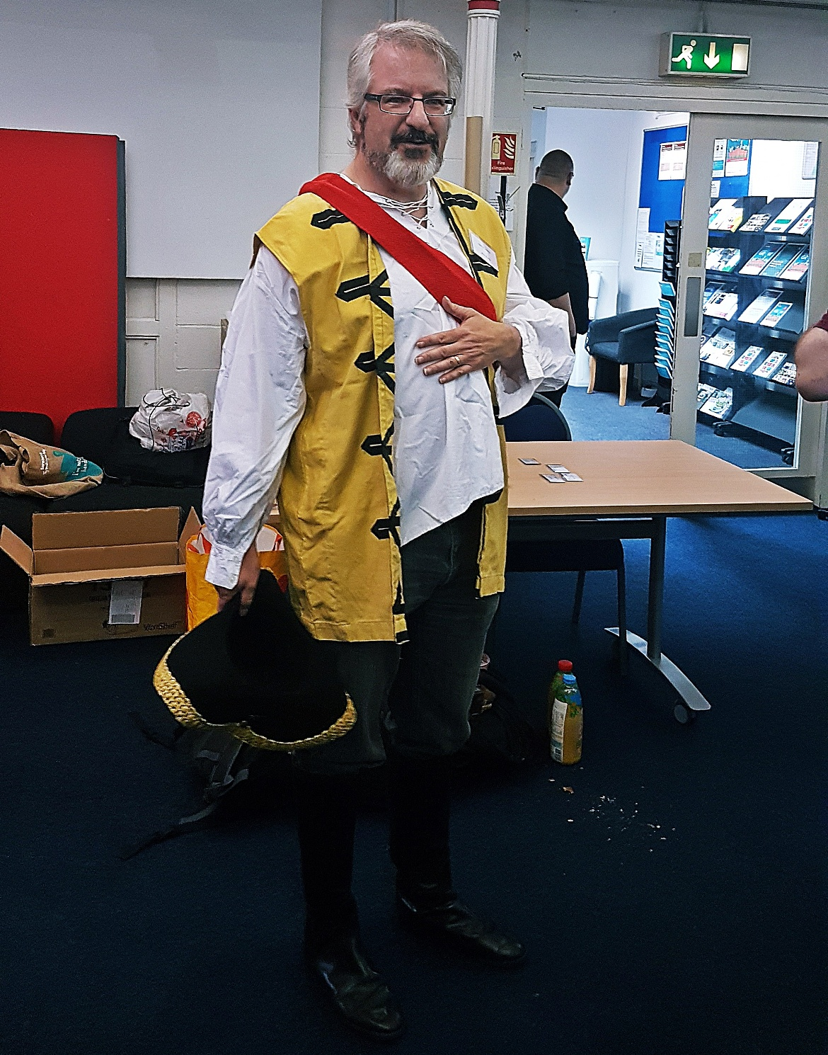 John Sharp, game designer - The Pirate Republic Megagame After Action Report by BeckyBecky Blogs