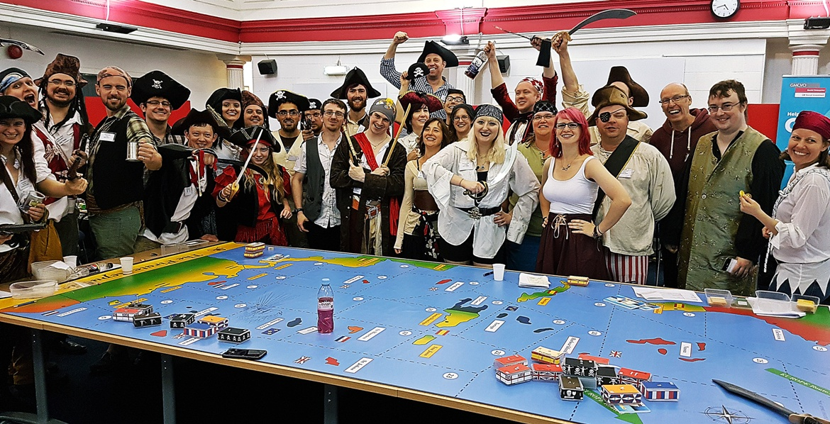 The Pirate team - The Pirate Republic Megagame After Action Report by BeckyBecky Blogs
