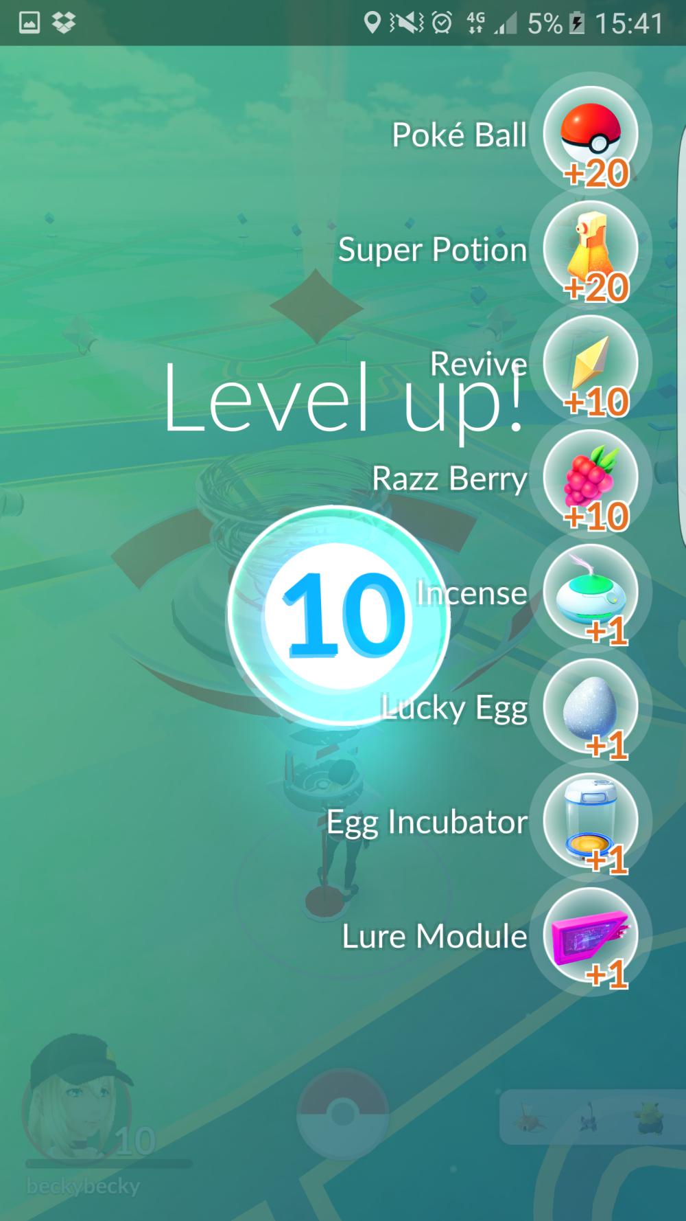 Pokemon GO level 10