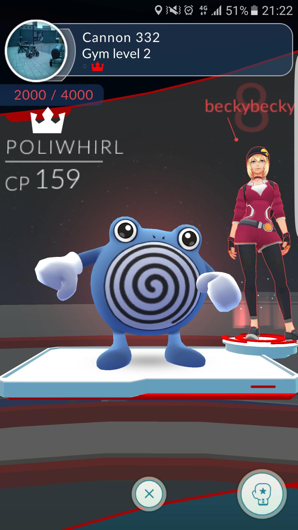 Pokemon GO gym win