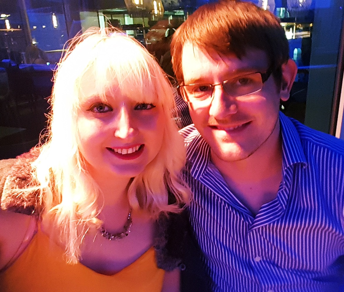Me and TC on the night I broke my foot - One Broken Foot, Two Chronic Illnesses, and the Importance of Positivity by BeckyBecky Blogs