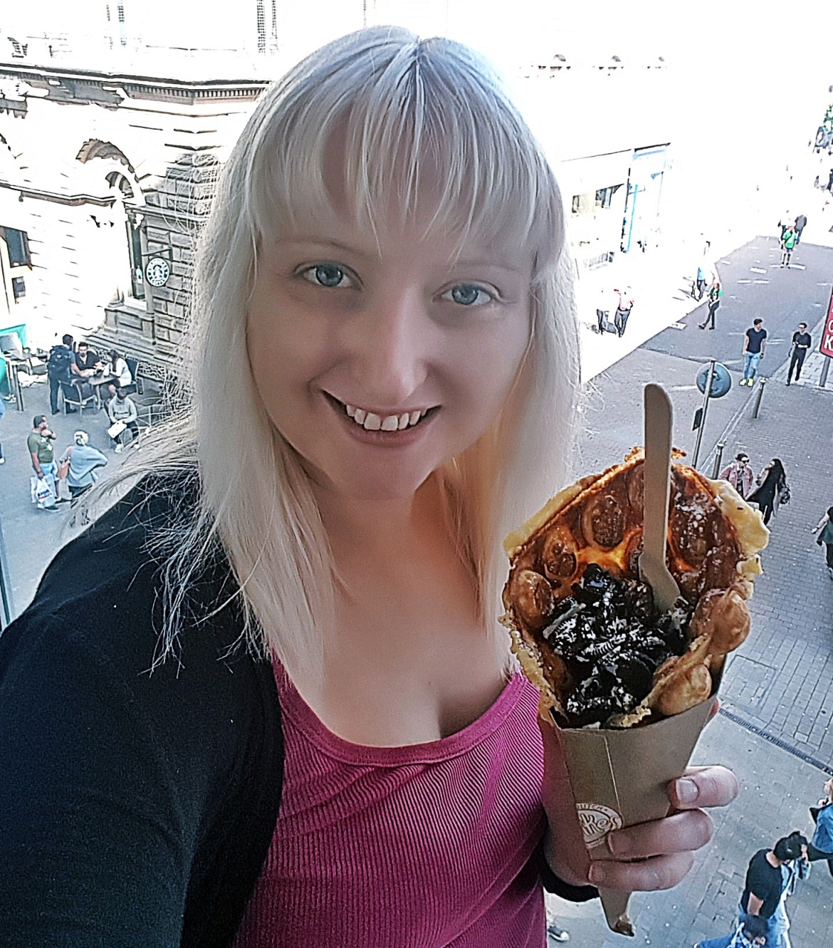 Bubble waffle from Lekker Eat Dutch at Trinity Kitchen, Leeds - August 2017 Recap by BeckyBecky Blogs