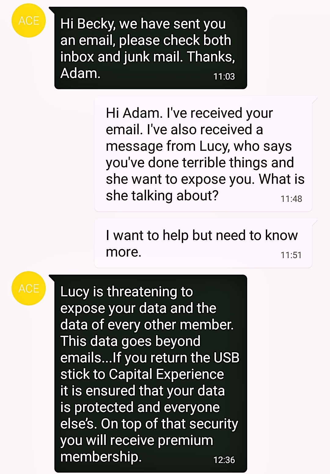 Texting Adam - The Lucky Ones, immersive theatre experience by Riptide Leeds, review by BeckyBecky Blogs