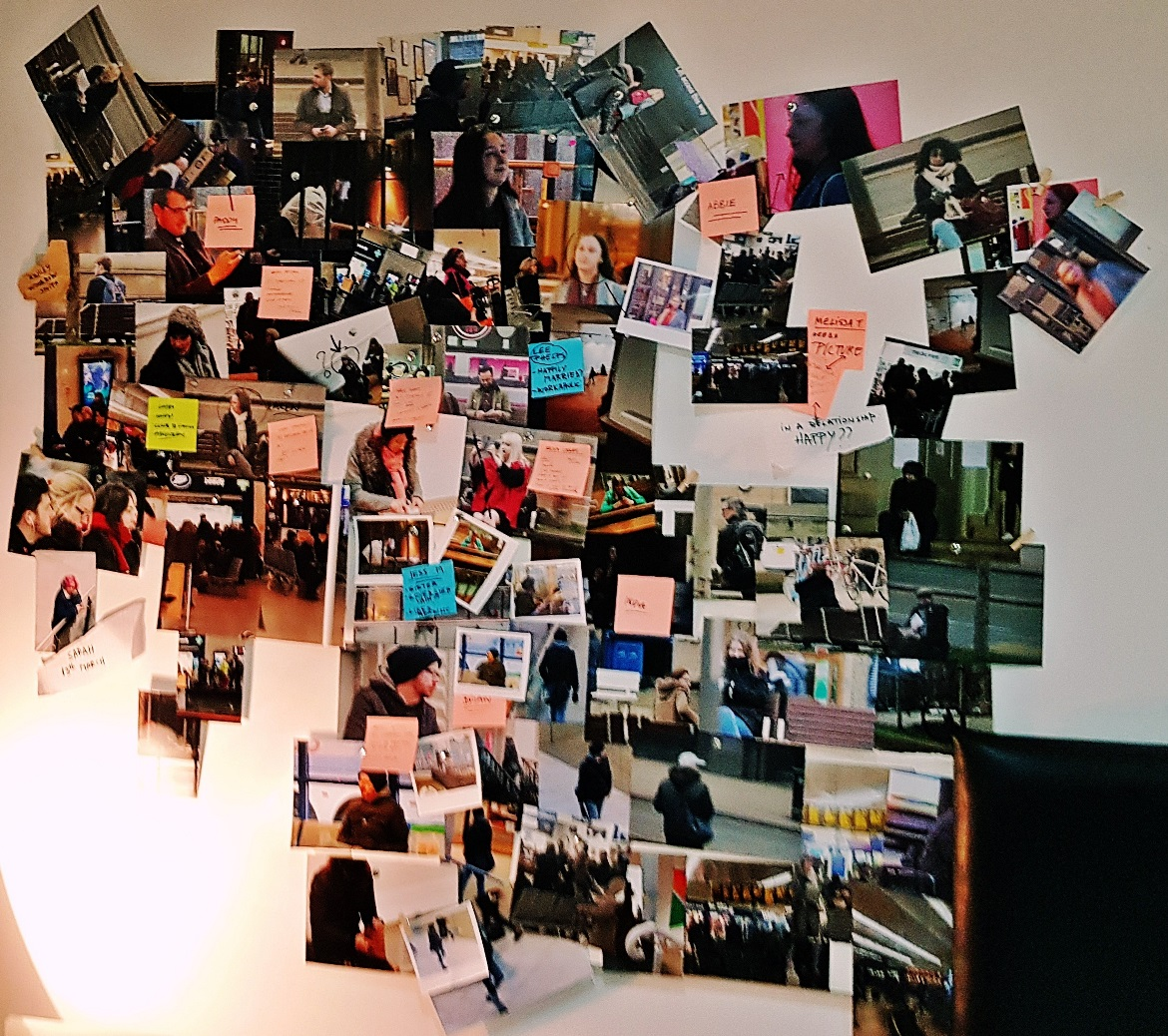 Photos on the wall in Lucy's flat - The Lucky Ones, immersive theatre experience by Riptide Leeds, review by BeckyBecky Blogs