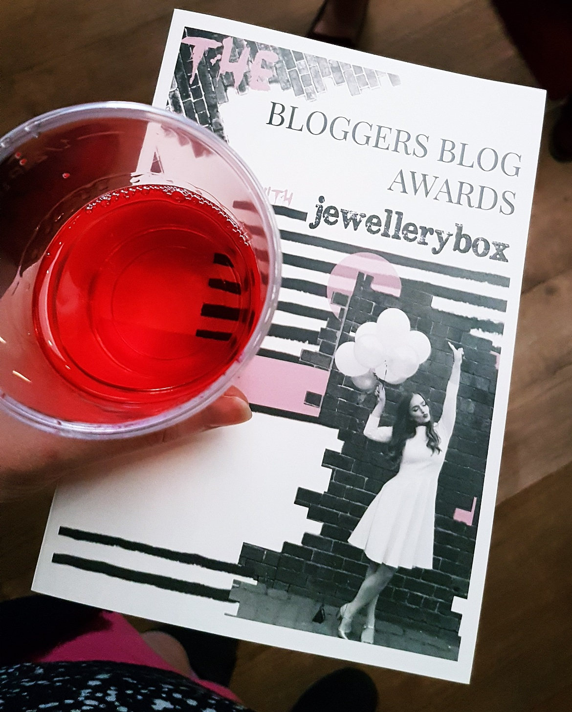 Drinking wine at the Bloggers Blog Awards - September Monthly Recap by BeckyBecky Blogs