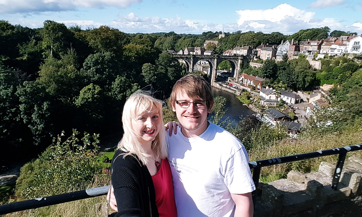 Tim and me at the castle at Knaresborough - September Monthly Recap by BeckyBecky Blogs