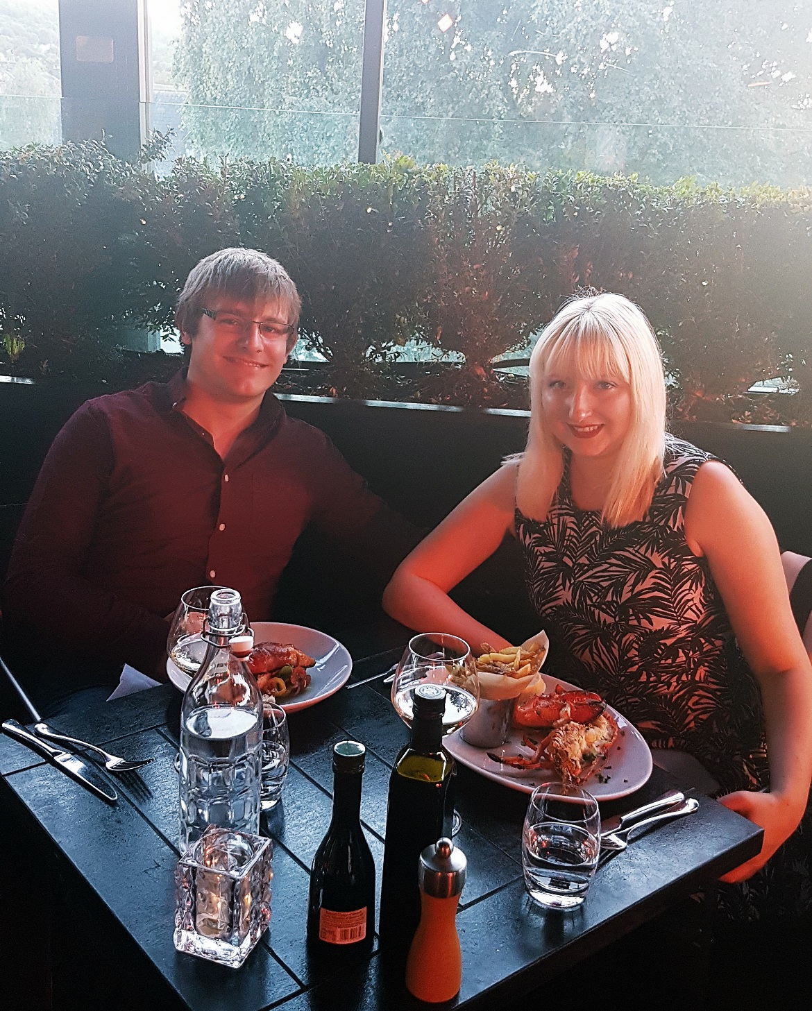 Tim and me at Piccolino Ilkley - September Monthly Recap by BeckyBecky Blogs