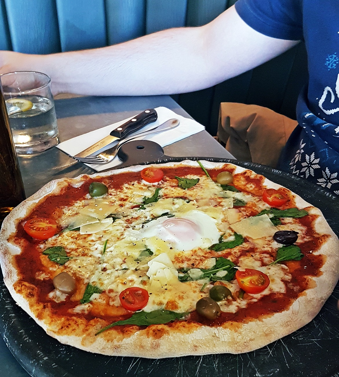 A massive pizza at Wildwood in Ilkley - September Monthly Recap by BeckyBecky Blogs