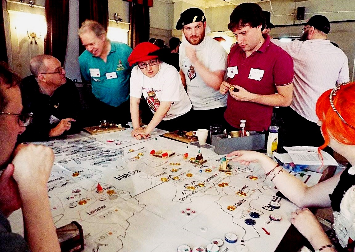 The English team at the Spanish Road megagame