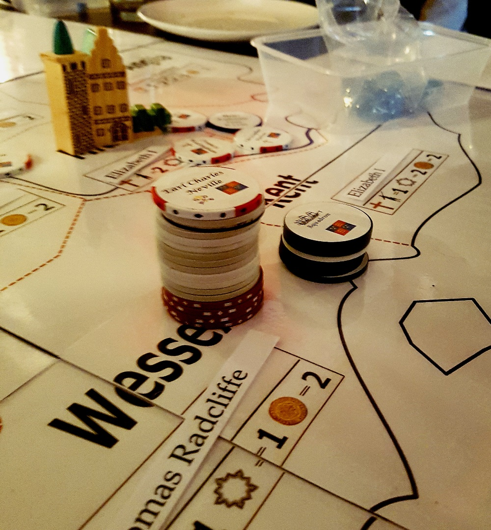 Neville's rebellion at the Spanish Road megagame