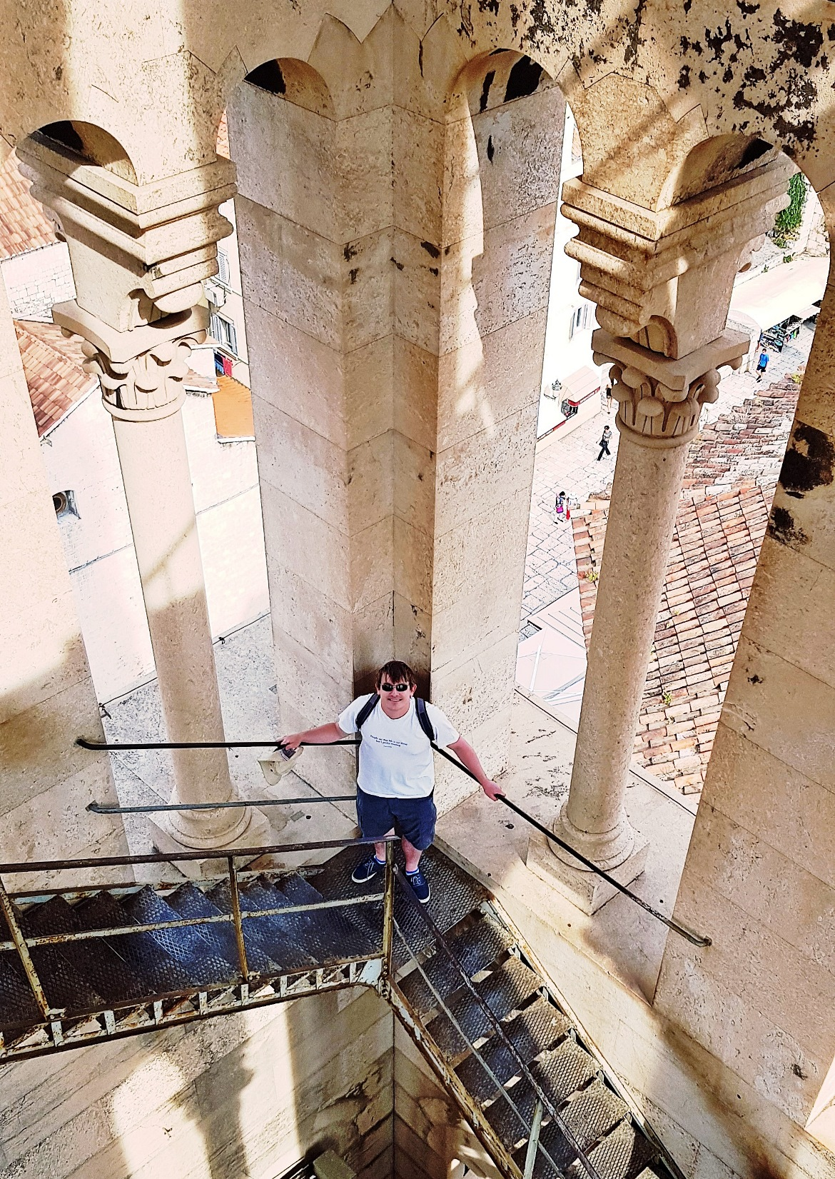 Halfway up the Bell Tower in Split - Croatia in Photographs by BeckyBecky Blogs