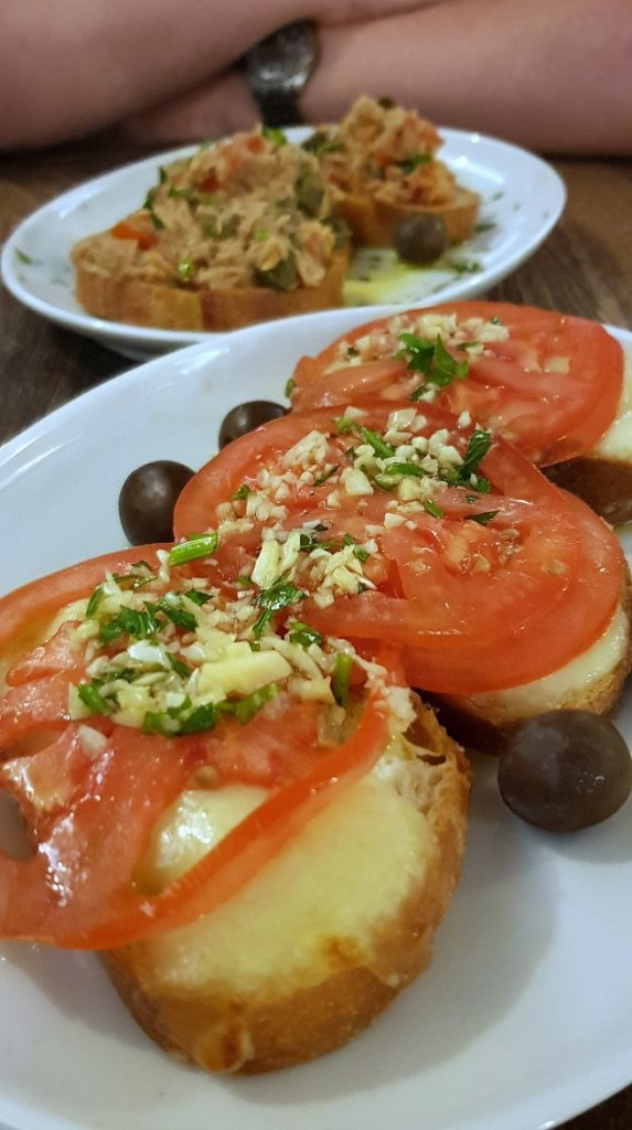 Bruschetta at Galija - Eating Split, Croatia Travel blog by BeckyBecky Blogs