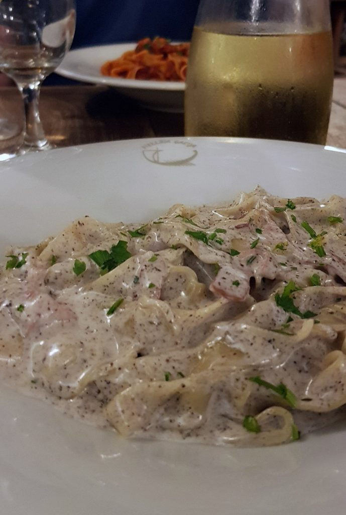 Truffle pasta at Galija - Eating Split, Croatia Travel blog by BeckyBecky Blogs