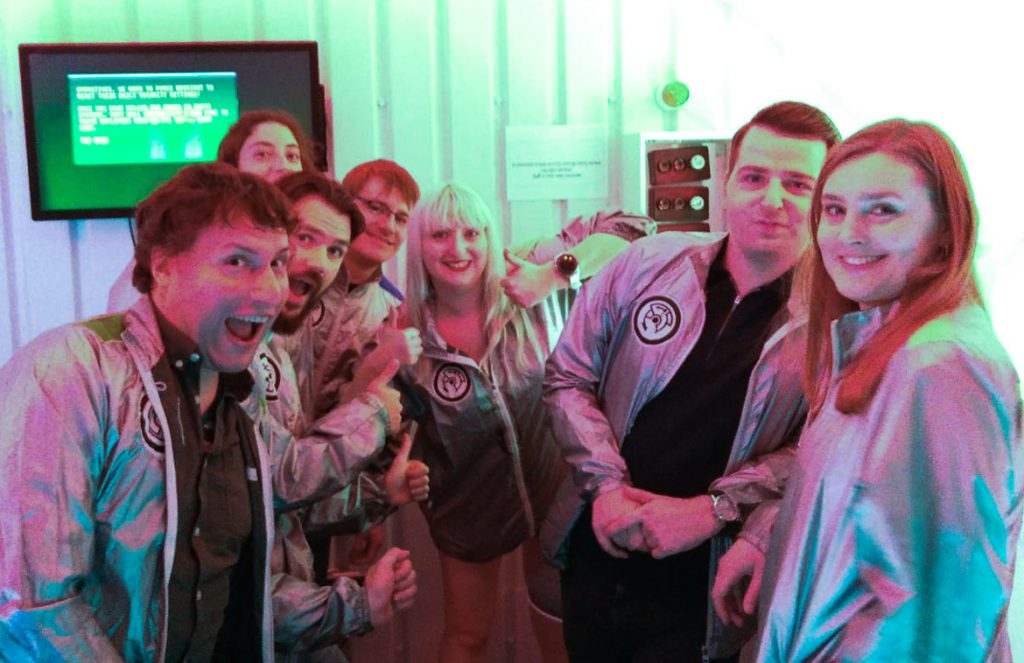 Our team - The Grid, Cocktail Escape Room in London, review by BeckyBecky Blogs
