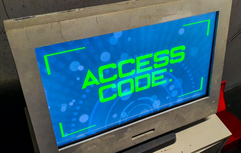 Access code needed - The Grid, Cocktail Escape Room in London, review by BeckyBecky Blogs