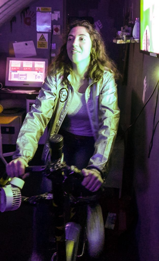 Exercise bike - The Grid, Cocktail Escape Room in London, review by BeckyBecky Blogs