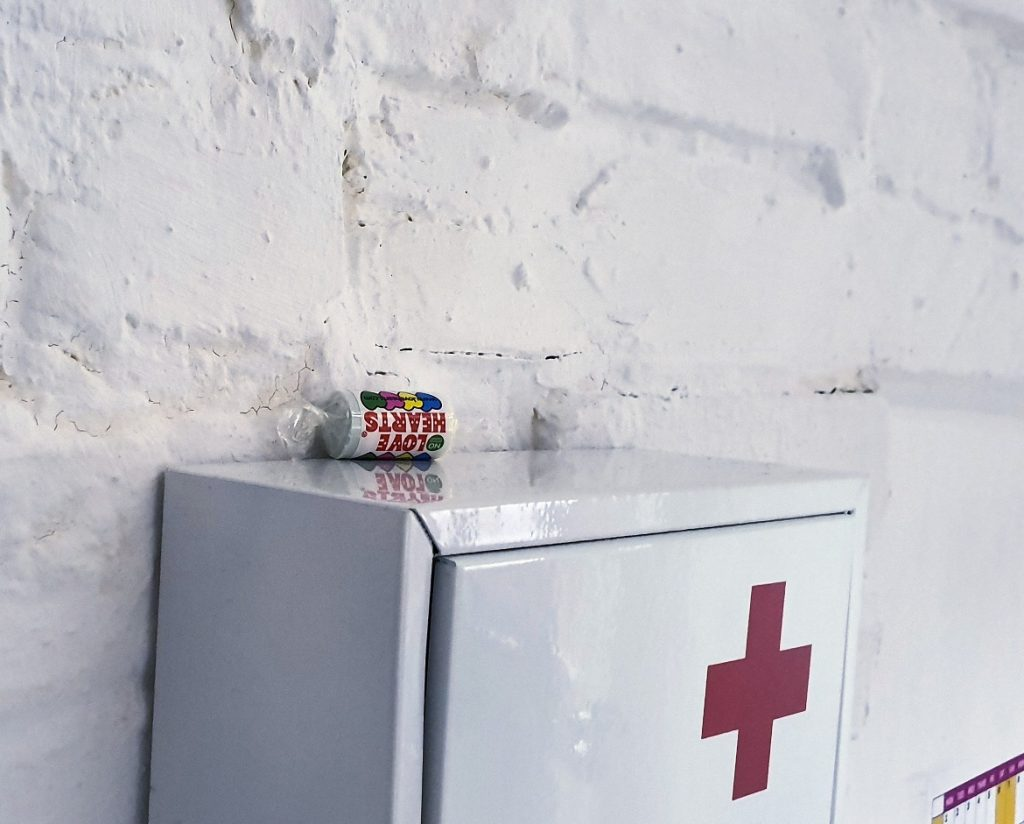Love hearts - The Infected at Rush Hour Escape Rooms, Spalding escape room review by BeckyBecky Blogs