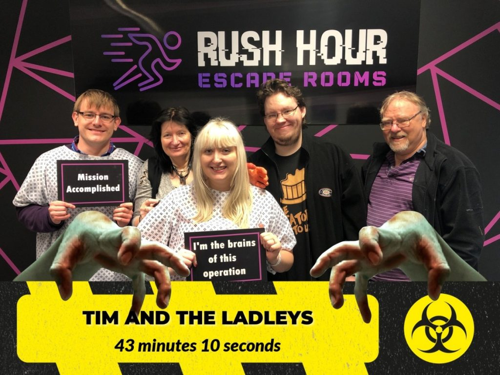 Success - The Infected at Rush Hour Escape Rooms, Spalding escape room review by BeckyBecky Blogs