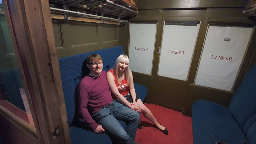 Briefing in the carriage - Station X escape room by TimeTrap Reading, review by BeckyBecky Blogs