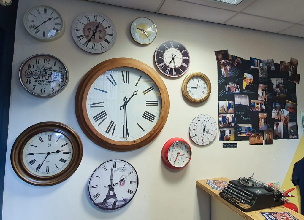 Clock decor - Station X escape room by TimeTrap Reading, review by BeckyBecky Blogs