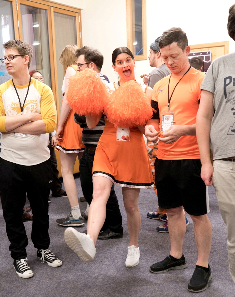 Cheerleader and sportballer - Trope High Megagame in Photos by BeckyBecky Blogs