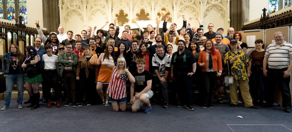 The final group shot - Trope High Megagame in Photos by BeckyBecky Blogs