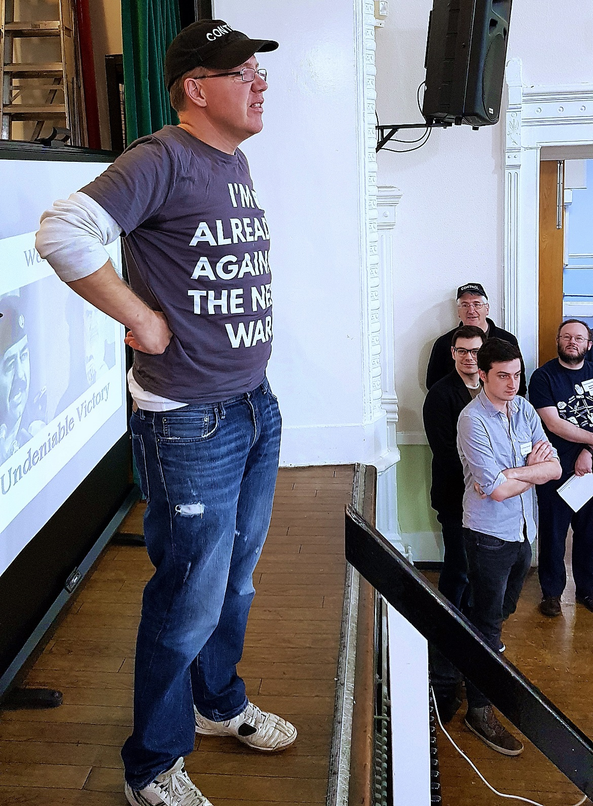 Ben Moores introducing his game - Undeniable Victory Megagame After Action Report by BeckyBecky Blogs