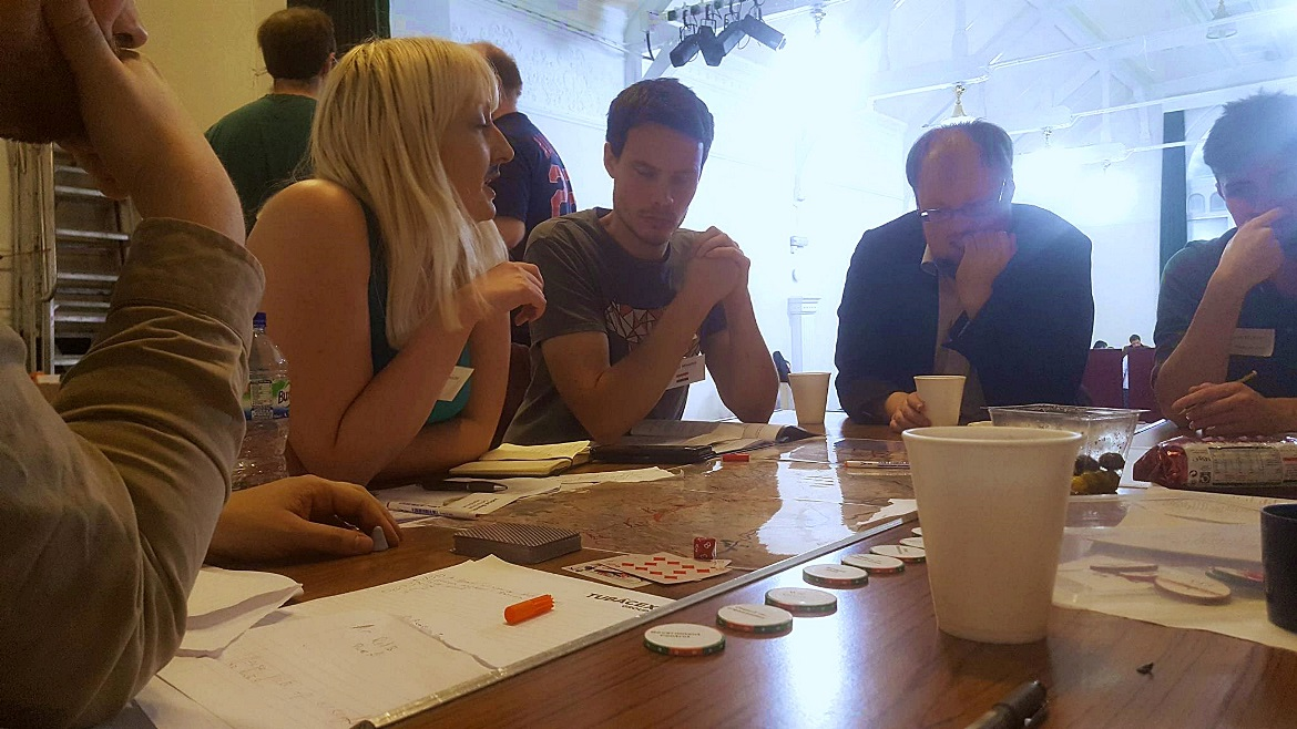 Making an impassioned bid on the Council - Undeniable Victory Megagame After Action Report by BeckyBecky Blogs