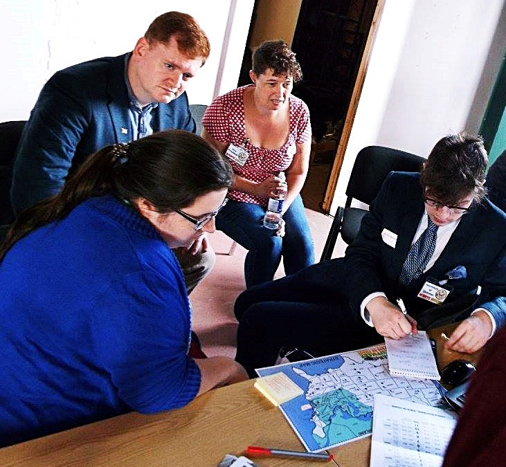 The White House team - Urban Nightmare: State of Chaos, the Wide Area Megagame, After Action Report by BeckyBecky Blogs