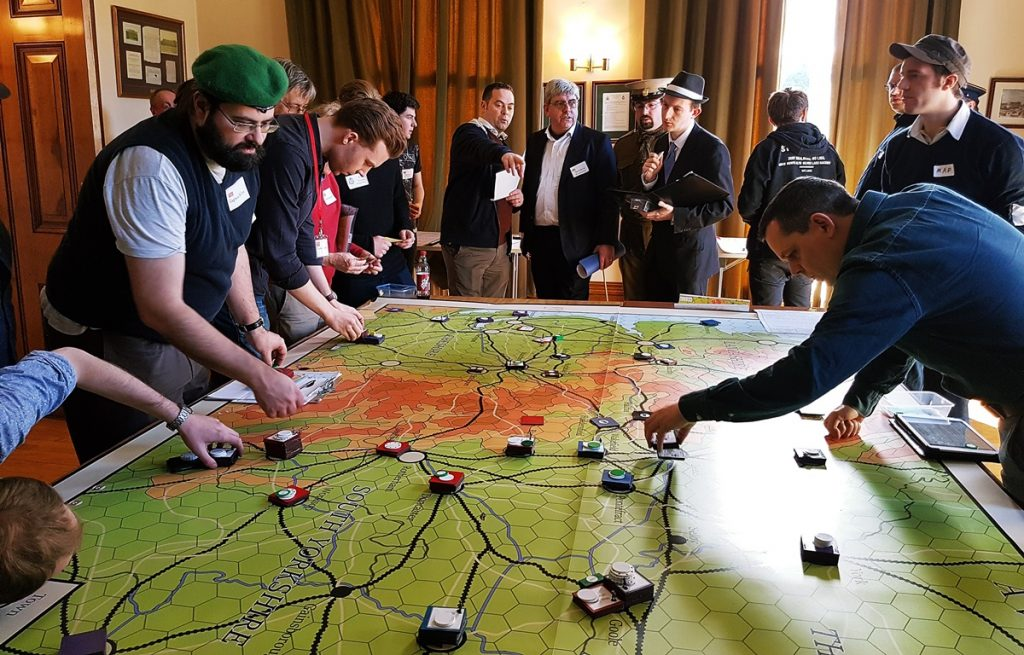 The Map Room during A Very British Civil War Megagame: After Action Report by BeckyBecky Blogs