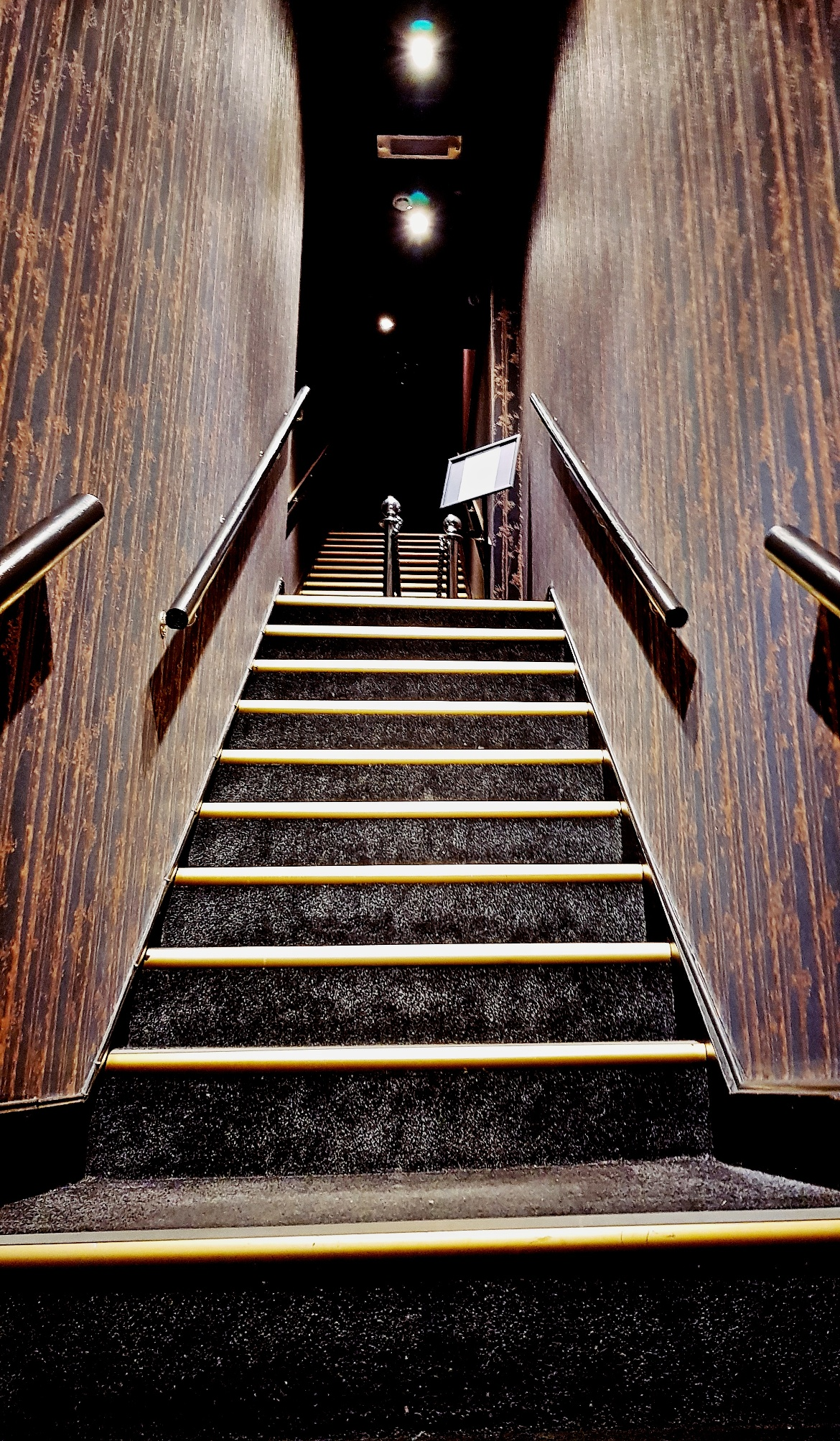 Stairs up to the restaurant and bar - Vice and Virtue Leeds Restaurant Review by BeckyBecky Blogs