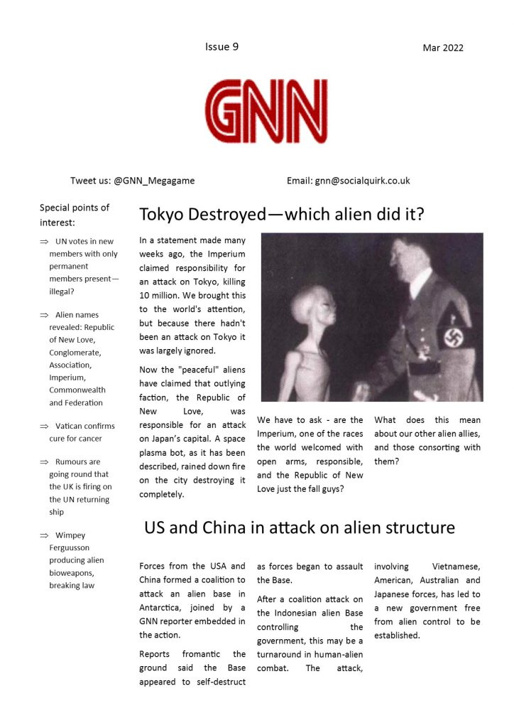 Watch The Skies GNN issue 9
