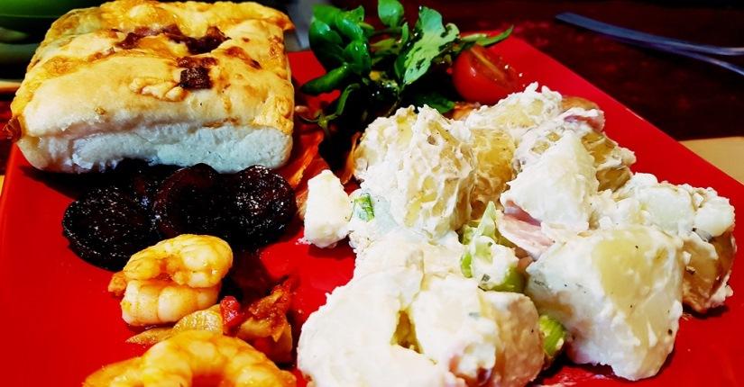 House warming buffet featuring Wimbledon