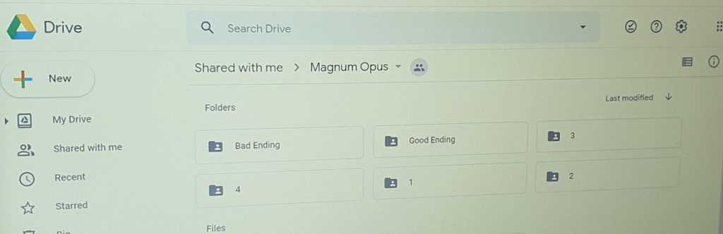 Google Drive - Magnum Opus, virtual escape room by YouEscape, review by BeckyBecky Blogs